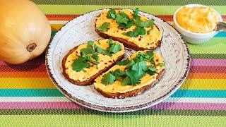 Намазка на хлеб из тыквы Полезный перекус