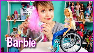 BARBIE Fashionista with Wheelchair & Dreamtopia Magical Unicorn on Mommy