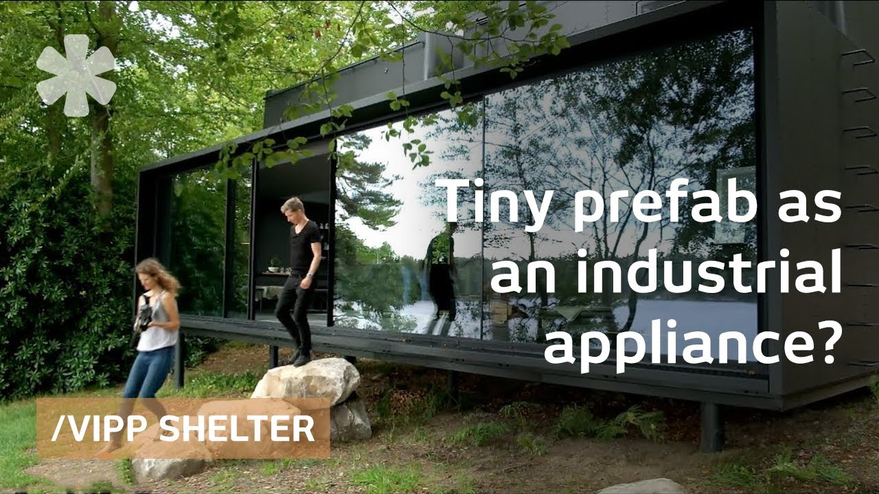 vipp shelter tiny prefab as precise industrial era. Black Bedroom Furniture Sets. Home Design Ideas