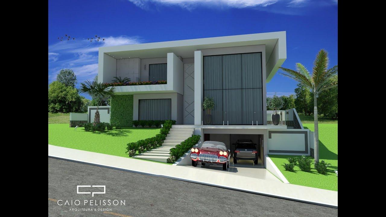 projeto casa sobrado arquitetura contempor nea minimalista