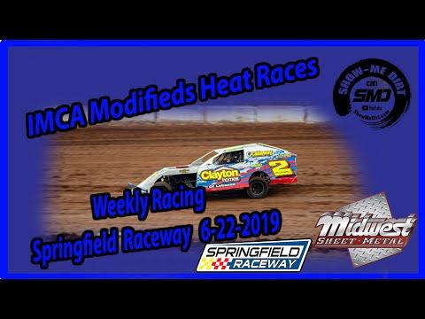 S03-E309 IMCA Modifieds Heat Races - Springfield Raceway 6-22-2019 #DirtTrackRacing