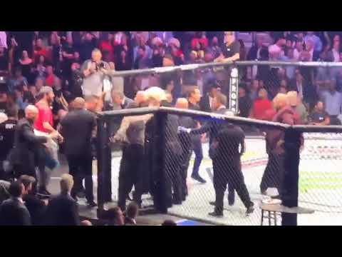 UFC 229 BEST ANGLE ON CAGE BRAWL 😱 (Conor vs Khabib)