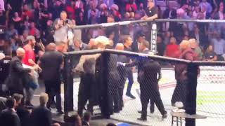 UFC 229 BEST ANGLE ON CAGE BRAWL 😱 (Conor vs Khabib)