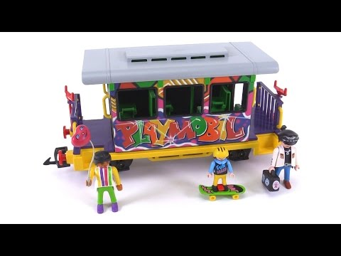 Playmobil train graffiti car from 1996 set 4118 review - Train playmobil ...