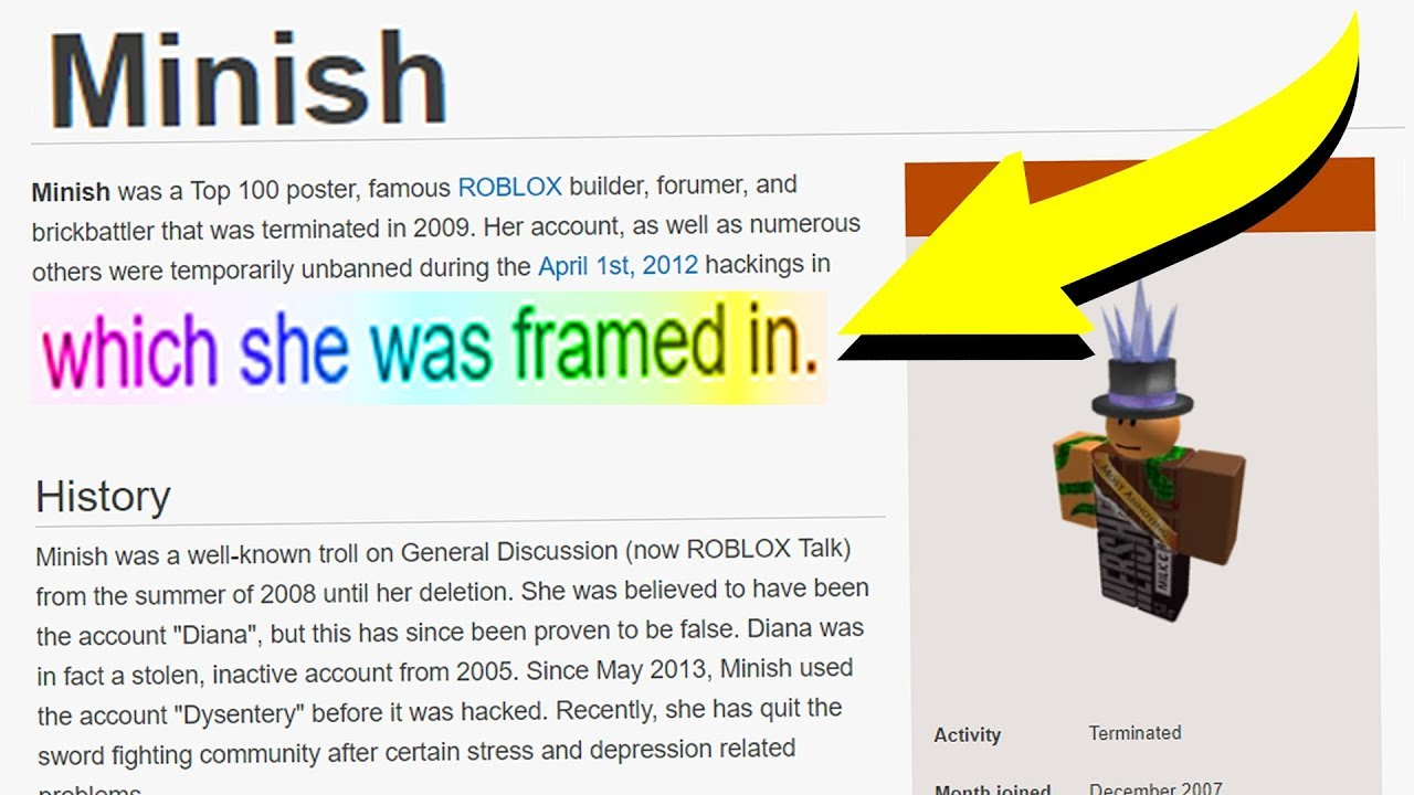 This Roblox Account Was Involved In The 2012 Hack Youtube