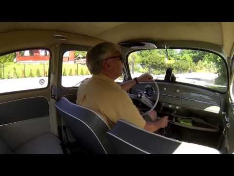 Driving a '59 VW Beetle on roads it enjoys