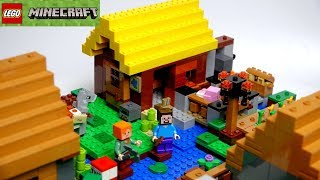 обзор LEGO 21144 Minecraft  Фермерский Коттедж