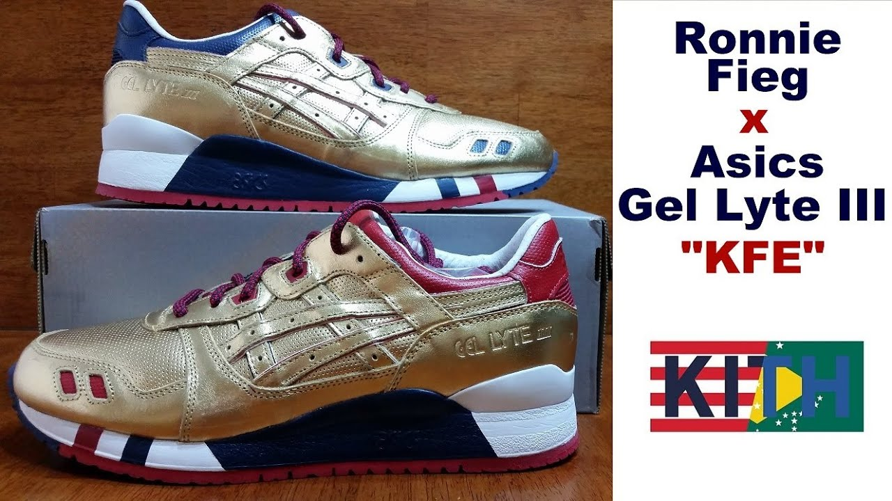 asics gel lyte iii kith football equipment