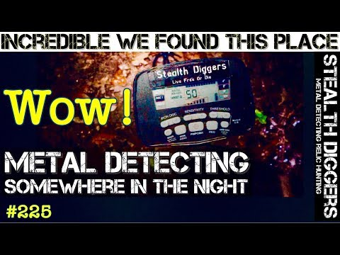 Somewhere in the night #225 Metal detecting incredible discovery a lost New England homesite virgin