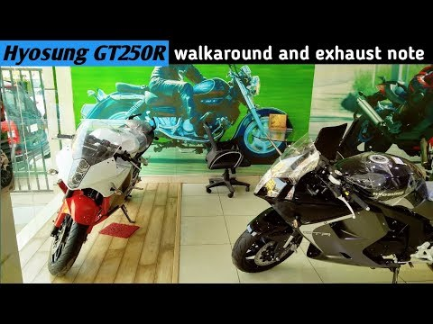 HYOSUNG GT250R   Review, Walkaround and Exhaust Note   2017   Delhi   Power To The Rider