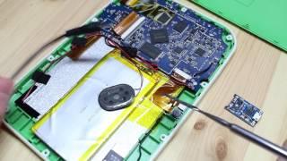 Пошаговая видеоинструкция ремонта детского планшетного компьютера Kakadu K 89