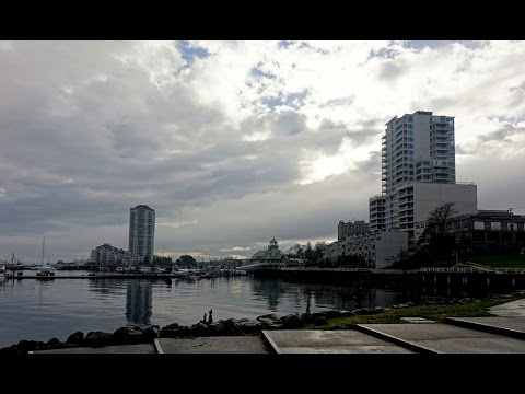 Nanaimo waterfront clouds timelapse