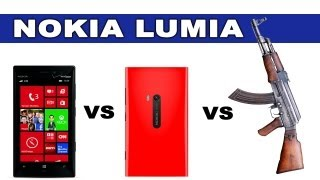 Nokia Lumia 928 vs 920 vs AK47 - Tech Assassin - RatedRR Slow Motion Camera