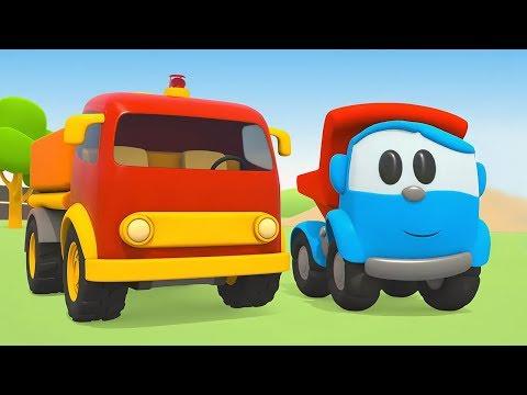 Çizgi Film Küçük Kamyon Leo Ve Akaryakıt Tankeri! Küçük çocuklar Için Araba Oyunu