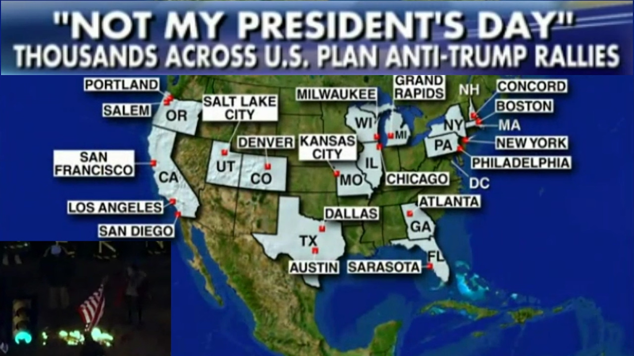 Not My Presidents Day AntiTrump Protests Set To Take Place - Us news today president protesters map