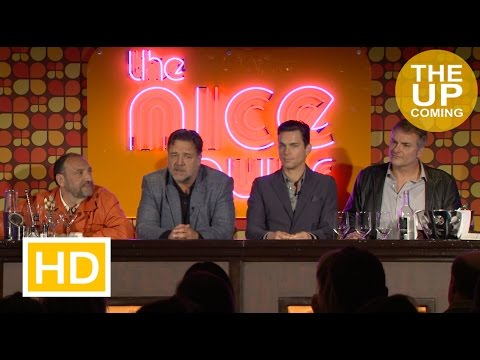 The Nice Guys Press Conference With Russell Crowe, Matt Bomer, Shane Black And Joel Silver