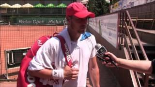 Jan Blecha po výhře v prvním kole kvalifikace na turnaji Futures v Pardubicích