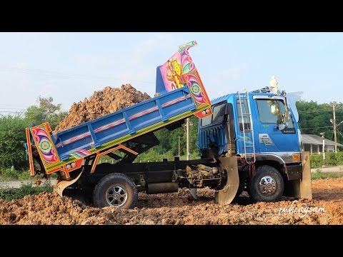 รถดั้มหกล้อสวยๆ รถดั้มดิน เทดิน ถมที่ Dump trucks