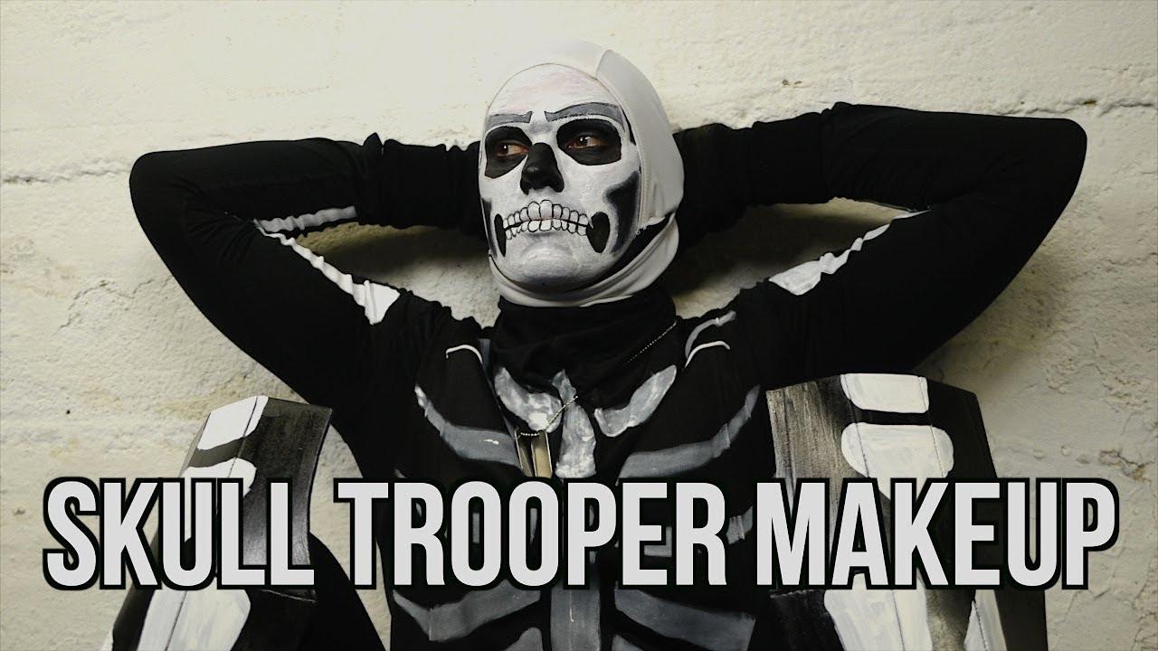 Fortnite Makeup Tutorial Skull Trooper Youtube