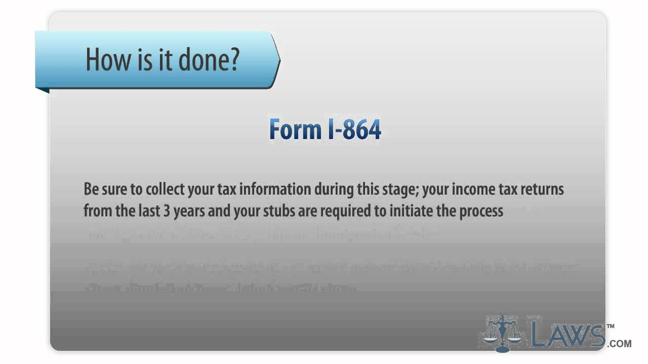 Learn How To Fill The Form I 864 Affidavit Of Support Under Section 213A Of  The Act   YouTube