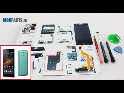 SONY Xperia ZR (C5502 / C5503) как разобрать, ремонт, замена дисплея и сенсора