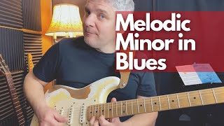 Blues Guitar Lesson: Minor Melodic Scale in BLUES - Blues Jazz? PDF + Backtrack (Spanish subtitles)