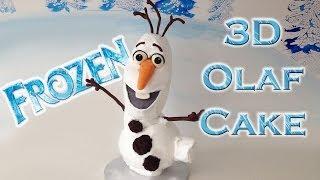 Frozen Cake Olaf HOW TO COOK THAT Ann Reardon Disney Frozen Cake