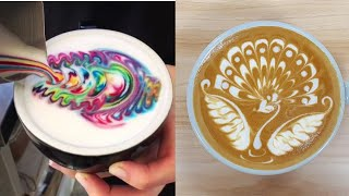 Viral Instagram Satisfying Cappuccino Art 2018