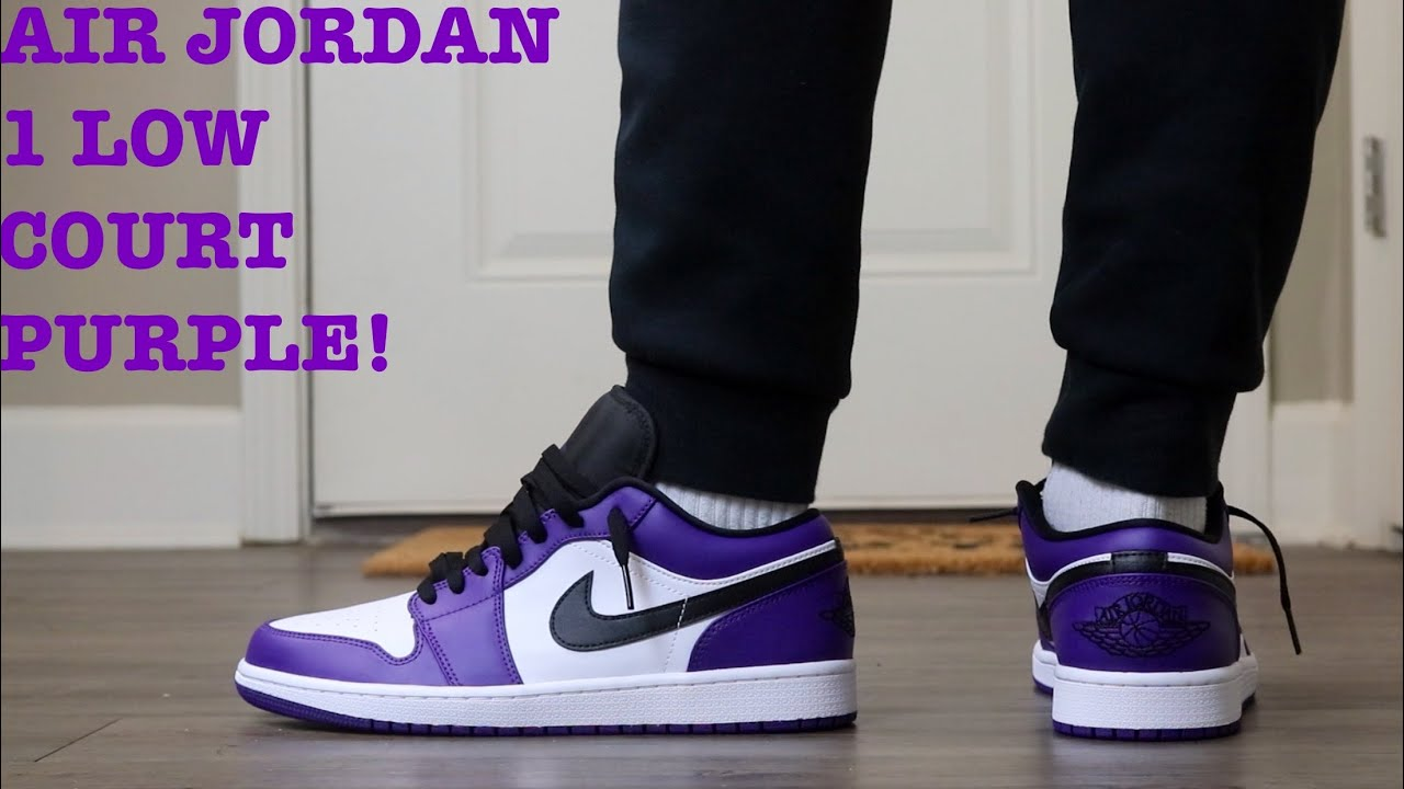 """REVIEW AND ON FEET OF THE AIR JORDAN 1 LOW """"COURT PURPLE 2.0"""""""