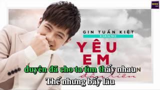 [KARAOKE] Yêu Em Từ Cái Nhìn Đầu Tiên | Gin Tuấn Kiệt | Beat Chuẩn