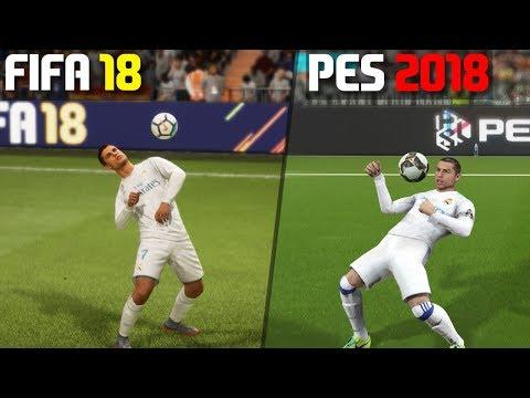 FIFA 18 vs PES 2018 | Skill Moves Comparison