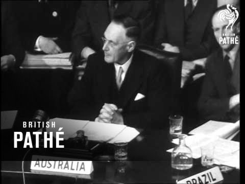 First Filming Of UN In Session (1946)