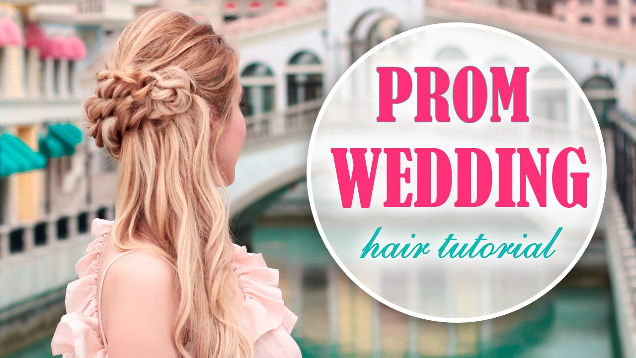 Prom/wedding/party hairstyle with side swept curls/braid for long ...