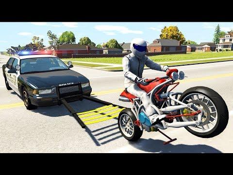 Beamng drive - Police Wheel Grabber...