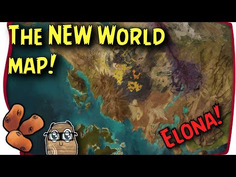 Guild Wars 2 Path of Fire - The New Tyrian World Map! | The Visible In-Game World About Doubled