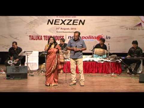 Phool tumhe bheja hai khat mein Saraswatichandra Lata Mukesh Rhythm Group  Jaipur 31 august 2013