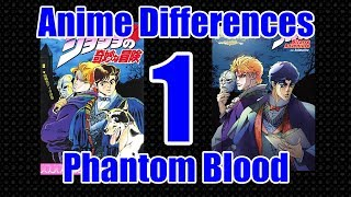 Jojo Anime & Manga Differences Part 1 - Phantom Blood