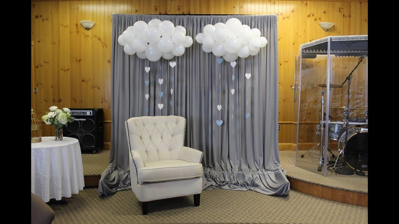 baby shower backdrop set up how i do it