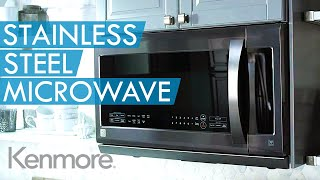 Kenmore Black Stainless Steel Microwave | Kenmore Kitchen Appliances