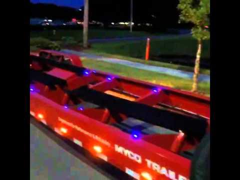 New Myco Boat Trailer Led Custom Lighting Test Out Youtube