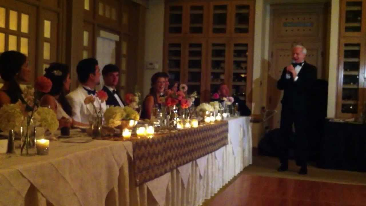 Dad's Toast To His Daughter At Her Wedding