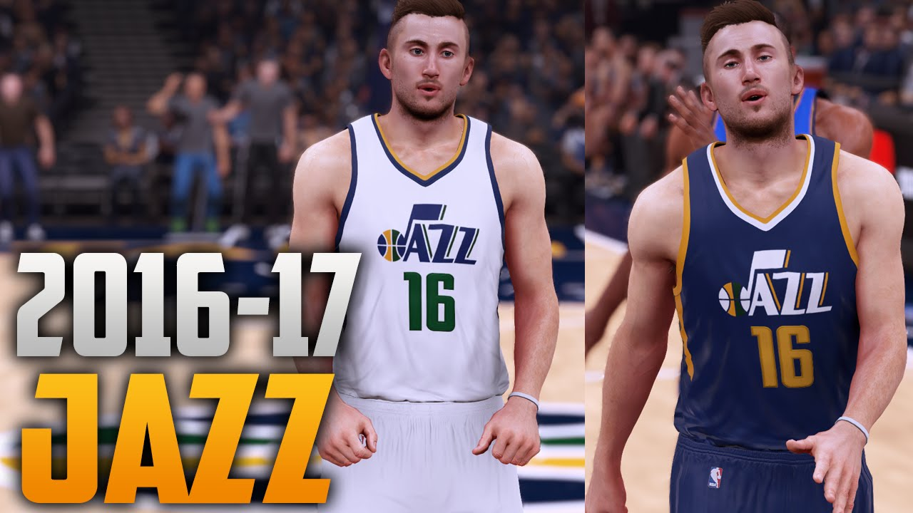 ec00a3d3d ... authentic nba 2k16 2016 17 utah jazz jersey court tutorial youtube  2b116 01522