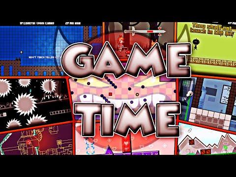 "15 JUEGOS EN UNO ""Game Time"" 100% INSANE DEMON by SimilarAMZ | Geometry Dash 2.11 | SoulsTRK"