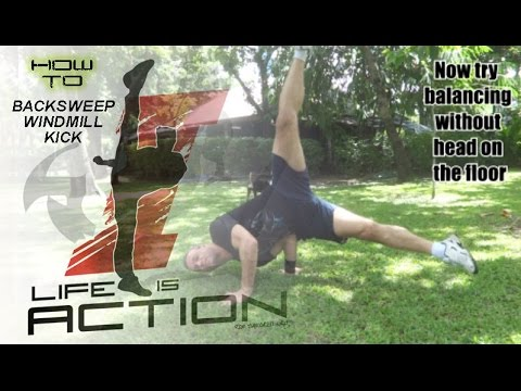 How to  Backsweep  Windmill Kick tutorial by Ron Smoorenburg