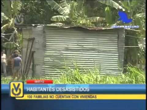 En Delta Amacuro denuncian que no cuentan con viviendas dignas