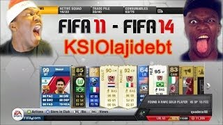 Top 5 KSI Pack Reactions of all Times | Best of KSIOlajidebt [Fifa 11 - Fifa 14]
