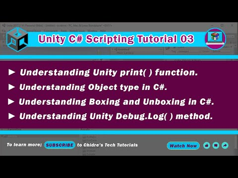 C# Unity 3 - Print, Debug.Log,  object type,  Boxing & Unboxing