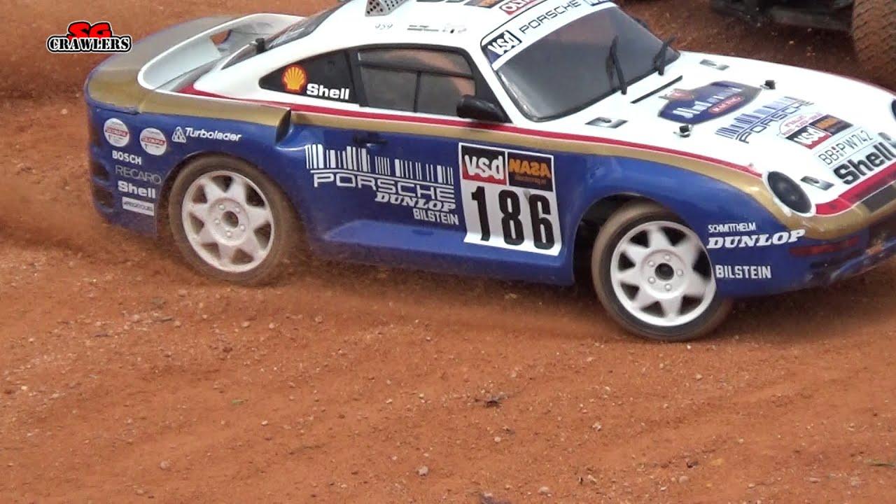 Carisma Rc M48s Porsche 959 1 10 Rc Classic Dakar Paris Race