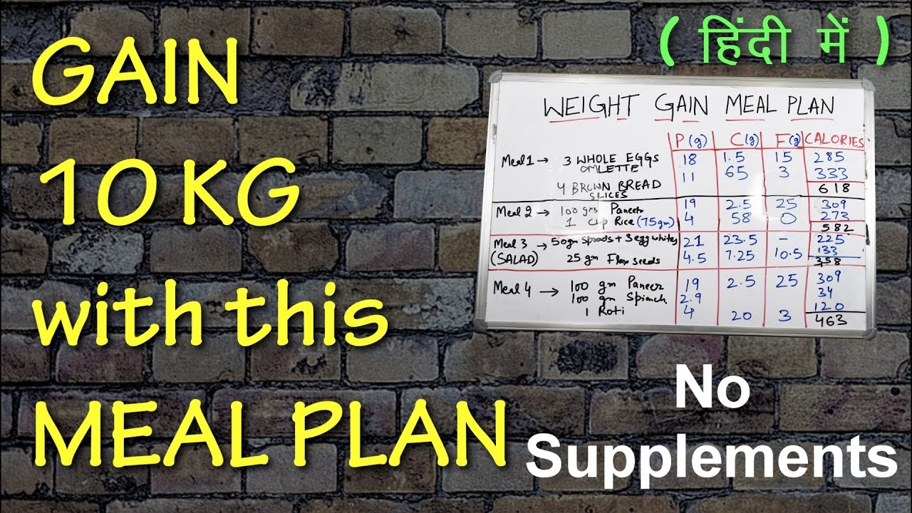 Fast weight gain meal plan men women indian foods youtube also rh