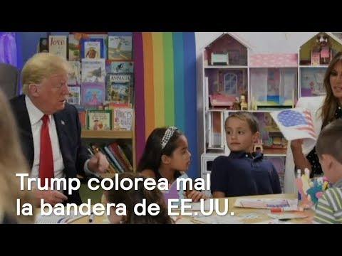 Donald Trump colorea mal la bandera de Estados Unidos - Despierta con Loret